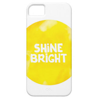 Shine bright sun inspiration typography quote iPhone 5 case