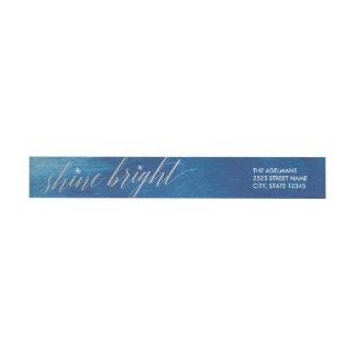Shine Bright Watercolor Wraparound Address Labels