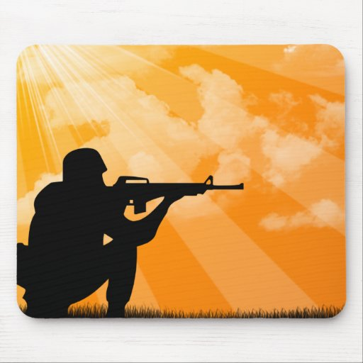 Shine down on Troops Mouse Mat