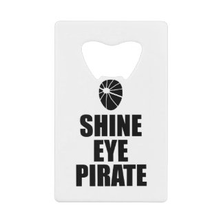 Shine Eye Pirate Eyepatch. Dark Text