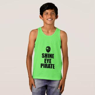 Shine Eye Pirate Eyepatch. Dark Text Singlet