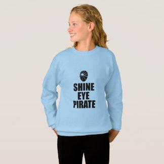 Shine Eye Pirate Eyepatch. Dark Text Sweatshirt