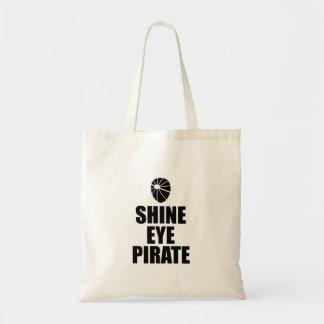 Shine Eye Pirate Eyepatch. Dark Text Tote Bag