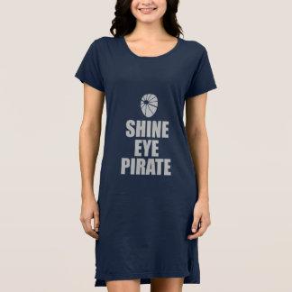 Shine Eye Pirate Eyepatch. Light Text Dress