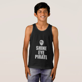Shine Eye Pirate Eyepatch. Light Text Singlet