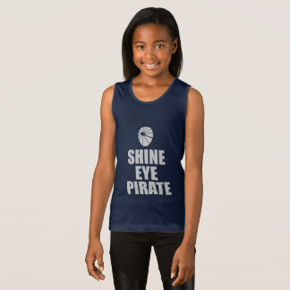 Shine Eye Pirate Eyepatch. Light Text Singlet