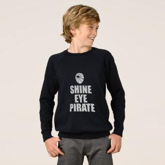Shine Eye Pirate Eyepatch. Light Text Sweatshirt