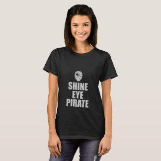 Shine Eye Pirate Eyepatch. Light Text T-Shirt