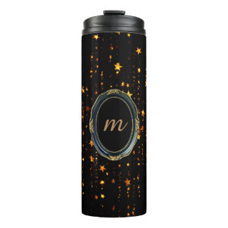 shine gold rich looks thermal tumbler