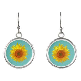 """Shine Like a Sunflower"" Drop Earrings"