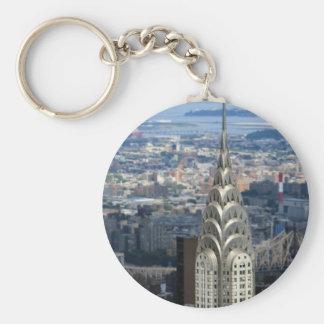 Shine Like the Chrysler Building Basic Round Button Key Ring