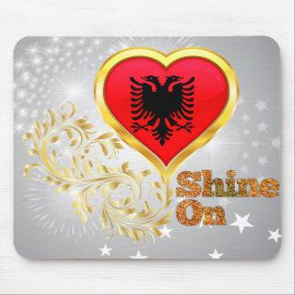 Shine On Albania Mouse Pads