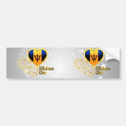 Shine On Barbados Bumper Sticker