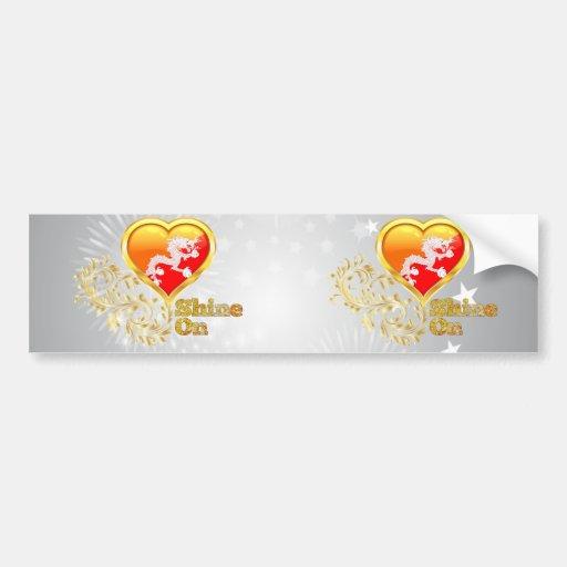 Shine On Bhutan Bumper Stickers