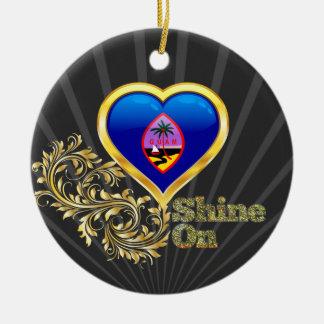 Shine On Guam Ceramic Ornament