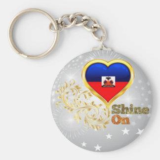 Shine On Haiti Basic Round Button Key Ring