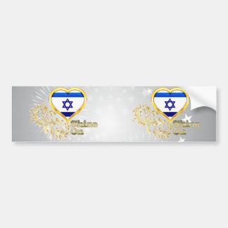 Shine On Israel Bumper Stickers