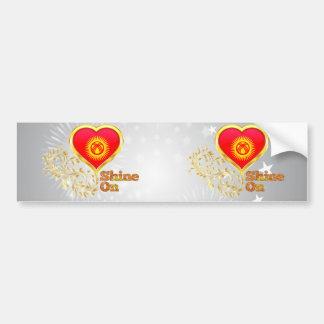 Shine On Kyrgyzstan Bumper Sticker