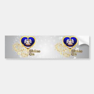 Shine On Louisiana Bumper Sticker