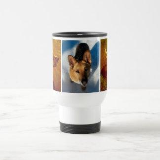 Shine On Me and Snow German Shepherd Travel Mug