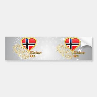 Shine On Norway Bumper Sticker