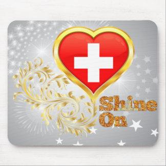 Shine On Switzerland Mouse Pad