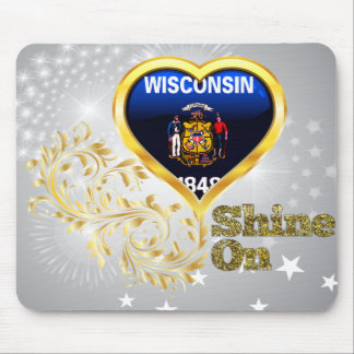 Shine On Wisconsin Mousepads