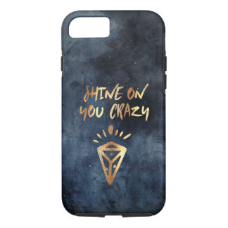 Shine On You Crazy Diamond Quote Gold Typography iPhone 8/7 Case