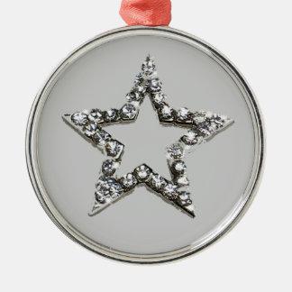 Shine star Silver-Colored round decoration
