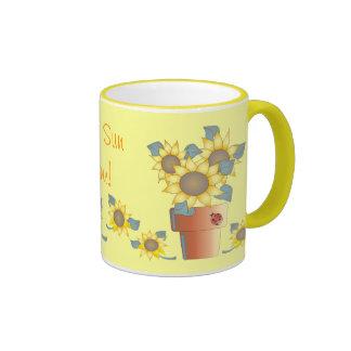 SHINE SUN SHINE by SHARON SHARPE Ringer Coffee Mug