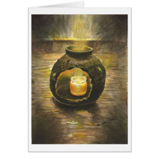 Shine through the broken pottery card