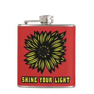 """Shine Your Light"" 631 Art Flask"