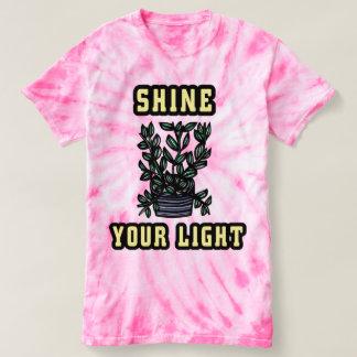 """""""Shine Your Light"""" Women's Cyclone Tie-Dye T-Shirt"""