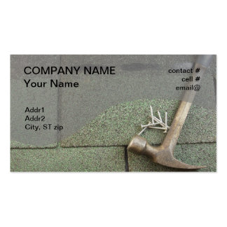 shingle roof business card template