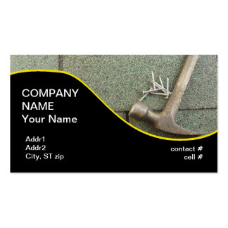 shingle roof pack of standard business cards