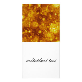 shining and shimmering,golden picture card