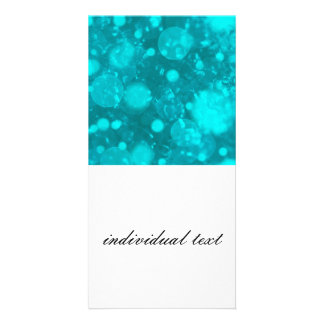 shining and shimmering turquoise picture card