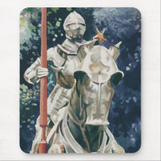 """Shining Armor"" Knight Watercolor Mouse Pad"