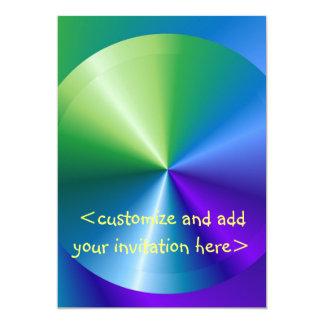 Shining Disk :  Shining Disc 5x7 Paper Invitation Card