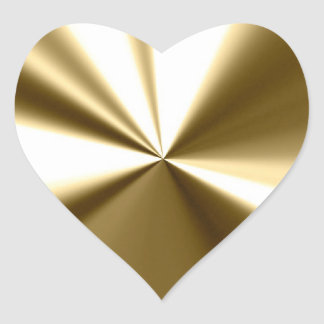 Shining Gold Heart Seals Stickers