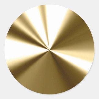 Shining Gold Round Seals Stickers