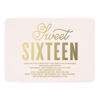Shining Gold | Sweet Sixteen Invitation