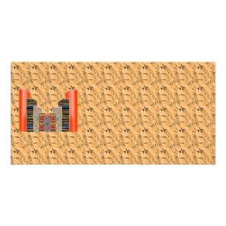 Shining Golden Graplhic n NumberONE AAA Customized Photo Card