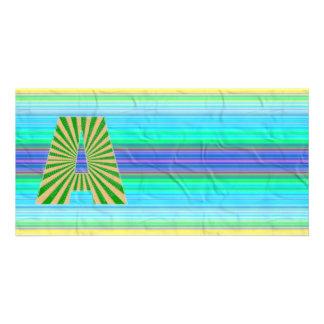 Shining Golden Graplhic n NumberONE AAA Custom Photo Card
