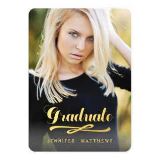 Shining Graduate   Photo Graduation Party Card