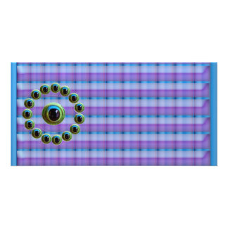 Shining Graphic Sparkle Rods  n Dragons Eye Camera Personalised Photo Card