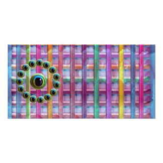 Shining Graphic Sparkle Rods  n Dragons Eye Camera Custom Photo Card