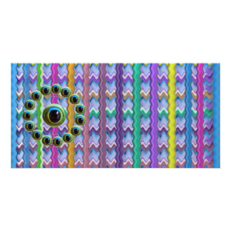 Shining Graphic Sparkle Rods  n Dragons Eye Camera Customised Photo Card