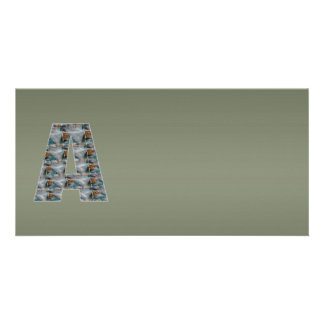 Shining Greenish Mettallic Shade  n Art101 Graphic Photo Greeting Card