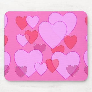 Shining heart Valentine background pink Mouse Pads